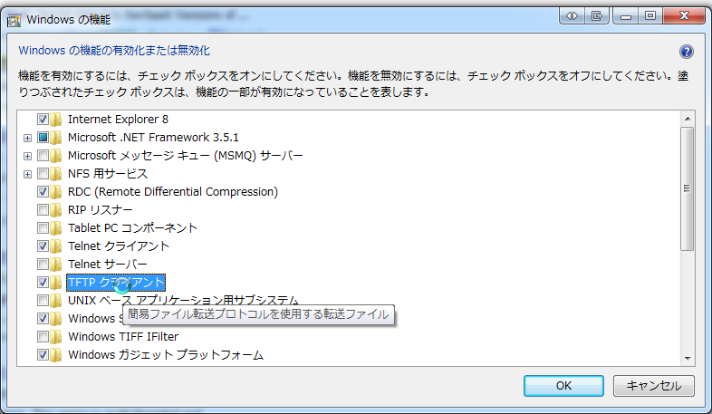 tftp client on Windows 7